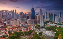 Preview wallpaper Kuala Lumpur, Malaysia, cityscape, skyscrapers