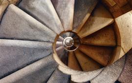 Aperçu fond d'écran Échelle, spirale, structure