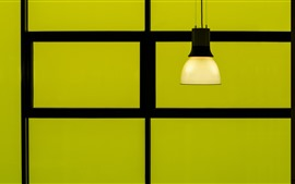 Preview wallpaper Lamp, green background