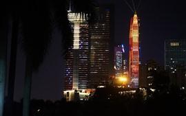Aperçu fond d'écran Spectacle de lumières, gratte-ciel, nuit, Shenzhen
