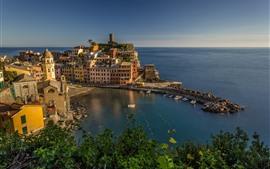 Mar de Liguria, puerto, Italia, ciudad, barcos