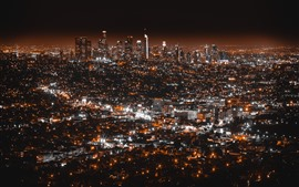 Preview wallpaper Los Angeles, night, city, lights, USA
