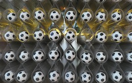 Preview wallpaper Many footballs, decoration