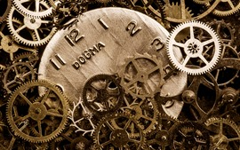 Preview wallpaper Many gears, clock