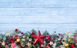 Feliz Natal, estrelas, bolas, decoração