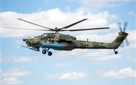 Preview wallpaper Mi-28 helicopter, Russian