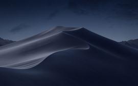 Mojave Desert, dune, night, stars