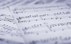 Музыкальные оценки, бумага