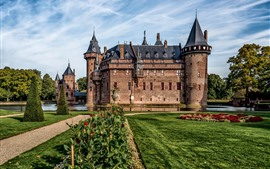 Preview wallpaper Netherlands, Castle De Haar, garden