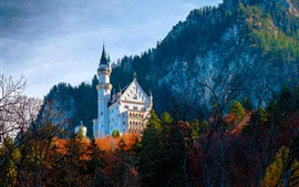 Castelo de Neuschwanstein, Bayern, Alemanha, outono