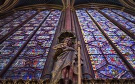 壁紙のプレビュー パリ、像、旅行