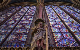 Paris, estátua, viajar