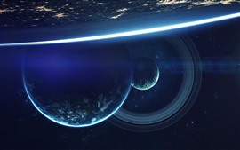 Preview wallpaper Planets, cosmos, space