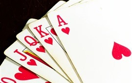 Playing cards, black background