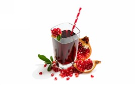 Preview wallpaper Pomegranate juice, glass cup
