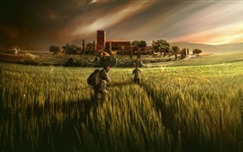Preview wallpaper Rainbow Six Siege, fields, soldiers