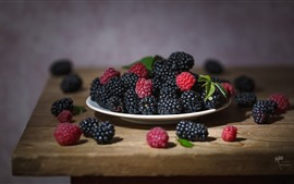 Preview wallpaper Raspberry, blackberry, berries