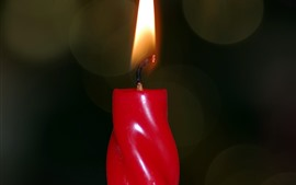 Preview wallpaper Red candle, flame, fire