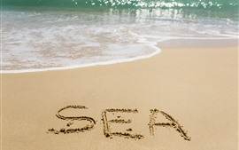 Preview wallpaper Sea, beach, water, sand