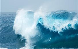 바다 파도, 스플래시, 파랑