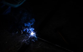 Preview wallpaper Smoke, sparks, magic
