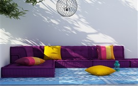 Preview wallpaper Sofa, colorful cloth