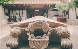 Tartaruga de pedra, templo