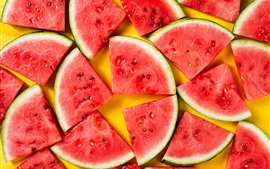 Preview wallpaper Summer fruit, some slices of watermelon