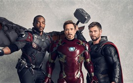 Preview wallpaper Superheroes, Falcon, Iron Man, Thor