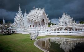 Aperçu fond d'écran Thaïlande, Chiang Rai, temple blanc