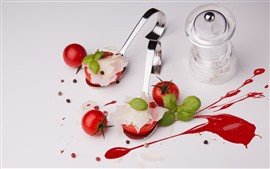 Preview wallpaper Tomatoes, spoon