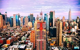 Preview wallpaper USA, New York, skyscrapers, city, colorful colors