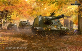 Preview wallpaper World of Tanks, trees, autumn