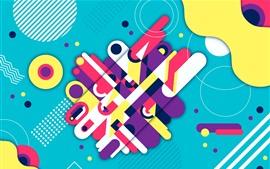 Fondo abstracto, geométrico, colorido