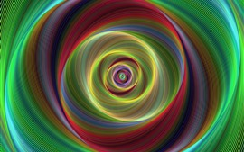 Preview wallpaper Abstract spiral, colorful lines
