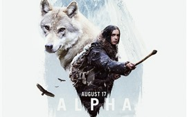 Preview wallpaper Alpha, girl and wolf, movie 2018