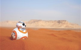 BB-8 robot, desert, Star Wars