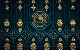 Preview wallpaper Bagua map, yin yang, door