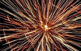 Preview wallpaper Beautiful fireworks, light lines