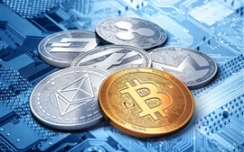 Preview wallpaper Bitcoin, virtual digital currency