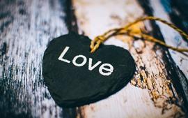 Aperçu fond d'écran Coeur d'amour noir, décoration
