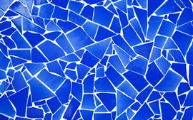 Fragmentación azul, grietas, textura de fondo.
