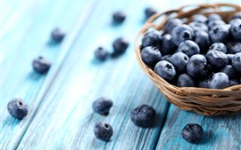 Preview wallpaper Blueberries, basket, hazy