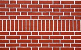 Кирпичи, красная стена, текстура