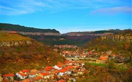Aperçu fond d'écran Bulgarie, ville, maisons, vue de dessus