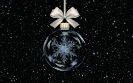 Preview wallpaper Christmas ball, snowflake, snow