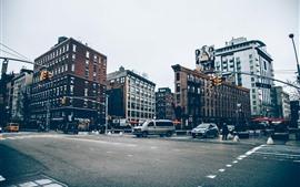 City street, crossroad
