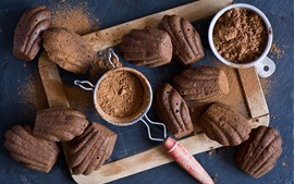 Cocoa powder, biscuits