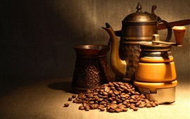 Preview wallpaper Coffee grinder, coffee beans, still life