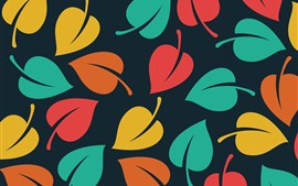 Preview wallpaper Colorful leaves, creative picture